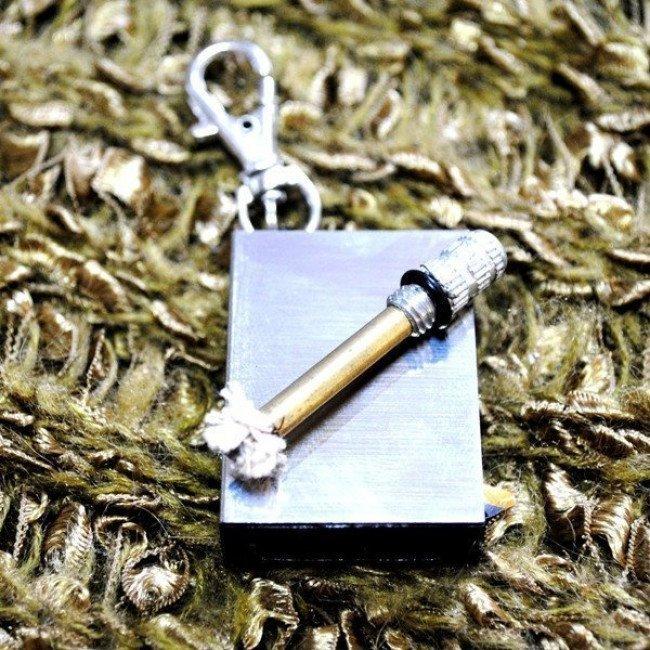 Фото 2 в 1 - огниво + спичка вечная (бензиновая) Фляга (50х28х10 мм) купить в Украине по недорогой цене для рыбалки