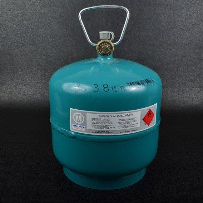 Фото Газовый баллон металлический Vitkovice (7.2л) купить в Украине по недорогой цене для рыбалки