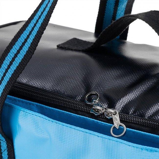 Фото 2 в 1 - термосумка + сумка-чехол КЕМПИНГ Ultra (17л), голубой/черный купить в Украине по недорогой цене для рыбалки