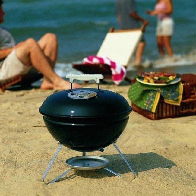 Фото Гриль на углях Weber Smokey Joe Premium (430х460х410мм), черный купить в Украине по недорогой цене для рыбалки