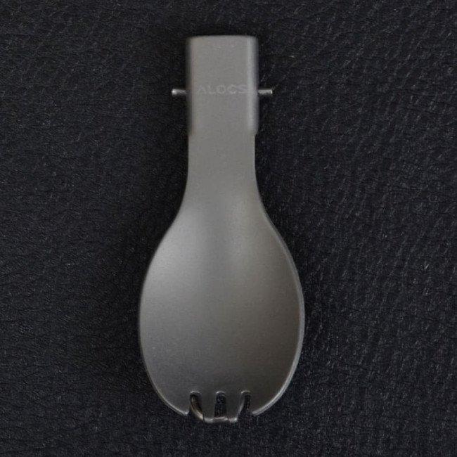 Фото 2 в 1 ложка + вилка алюминиевая, складная Alocs TW-104 купить в Украине по недорогой цене для рыбалки