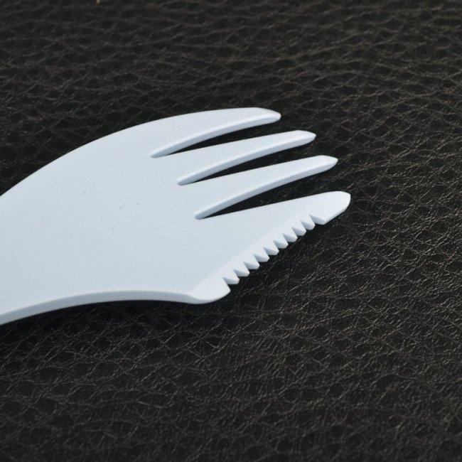 Фото 3 в 1 - ложка + вилка + нож LIGHT MY FIRE Spork, голубая купить в Украине по недорогой цене для рыбалки