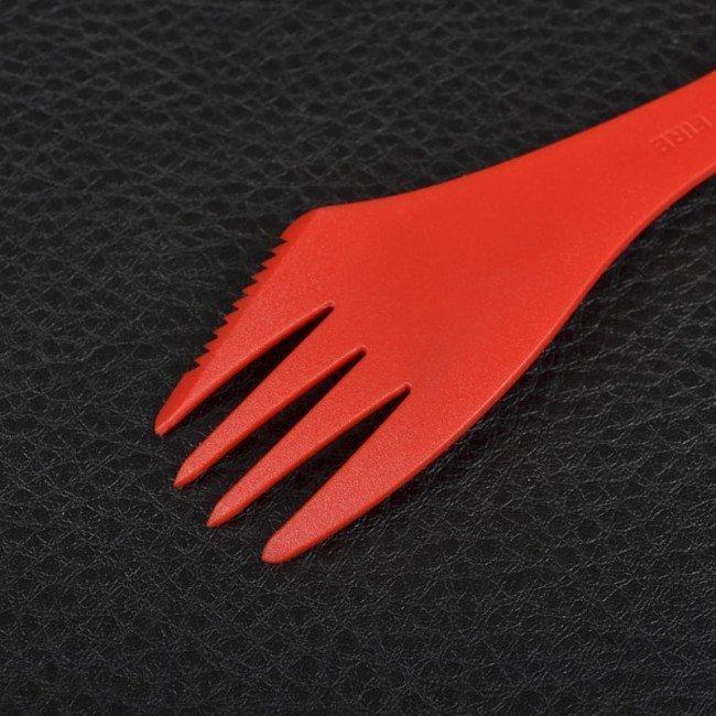 Фото 3 в 1 - ложка + вилка + нож LIGHT MY FIRE Spork, красная купить в Украине по недорогой цене для рыбалки
