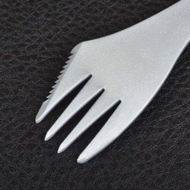 Фото 3 в 1 - ложка + вилка + нож LIGHT MY FIRE Spork, серая купить в Украине по недорогой цене для рыбалки