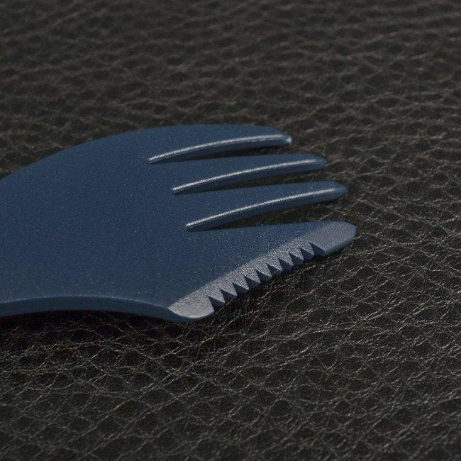 Фото 3 в 1 - ложка + вилка + нож LIGHT MY FIRE Spork, темно-синяя купить в Украине по недорогой цене для рыбалки