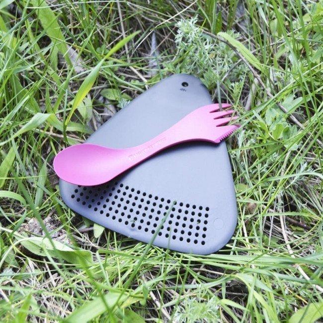 Фото 3 в 1 - ложка + вилка + нож LIGHT MY FIRE Spork, фуксия купить в Украине по недорогой цене для рыбалки