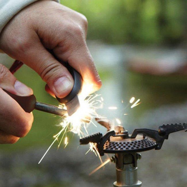 Фото 2 в 1 - огниво + свисток LIGHT MY FIRE FireSteel Army, сocoshell купить в Украине по недорогой цене для рыбалки
