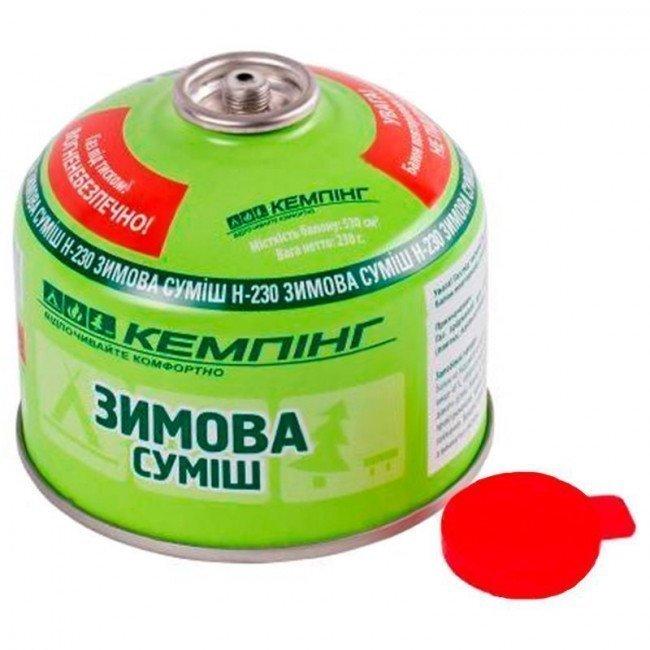 Фото Баллон газовый КЕМПИНГ (230г), зимняя смесь купить в Украине по недорогой цене для рыбалки