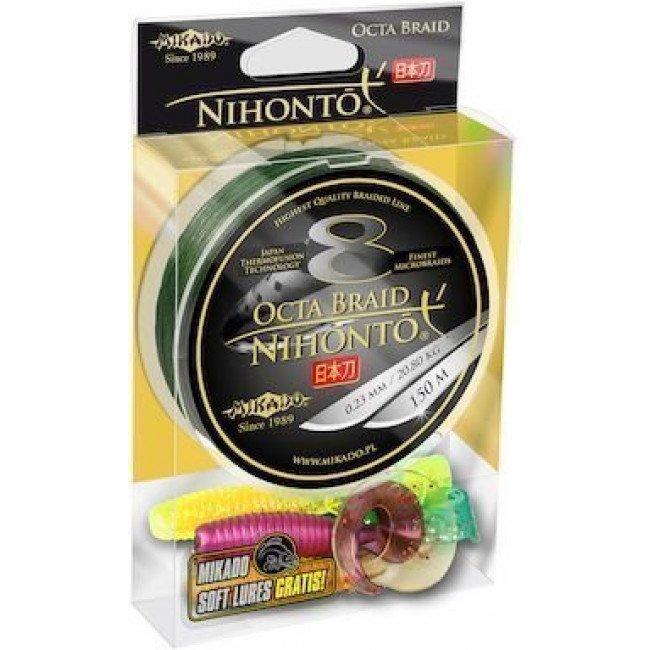 Фото Плетеный шнур Mikado NIHONTO OCTA BRAID 150м зеленый купить в Украине по недорогой цене для рыбалки