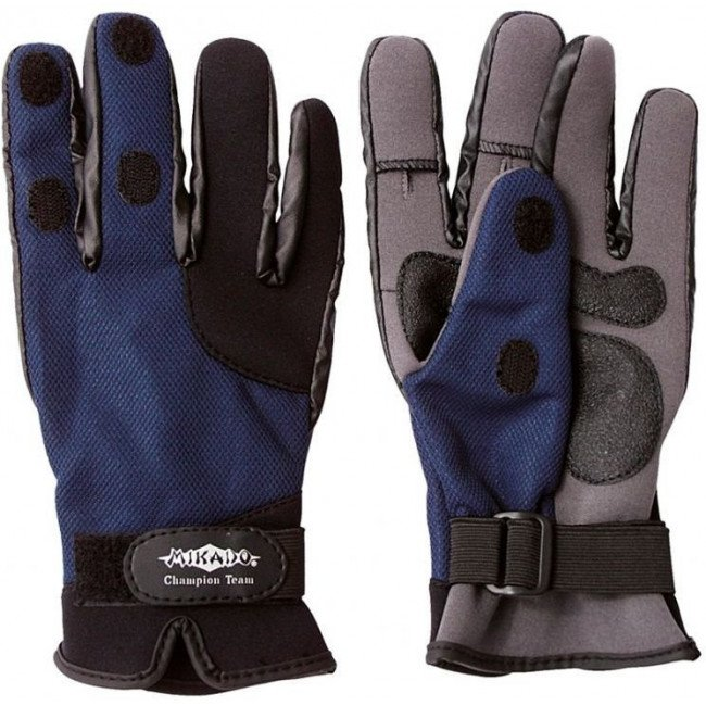 Фото Перчатки неопреновые MIKADO UMR-04 купить в Украине по недорогой цене для рыбалки