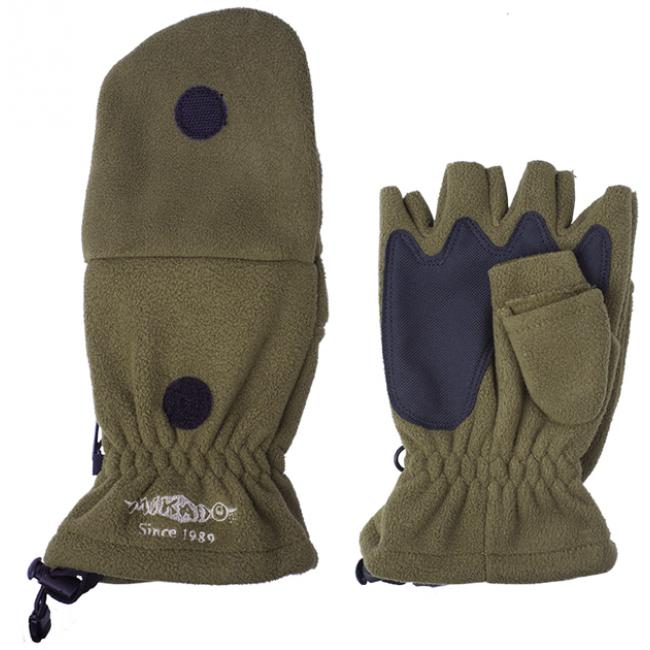 Фото Перчатки с откидной варежкой MIKADO UMR-08G купить в Украине по недорогой цене для рыбалки