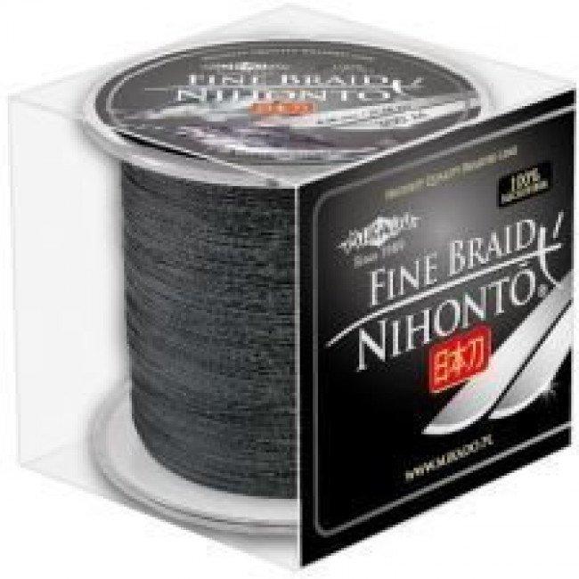 Фото Плетеный шнур Mikado NIHONTO FINE BRAID 300м черный купить в Украине по недорогой цене для рыбалки