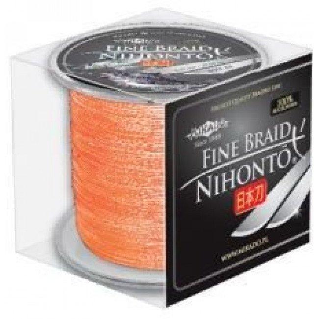 Фото Плетеный шнур Mikado NIHONTO FINE BRAID 300м оранжевый купить в Украине по недорогой цене для рыбалки