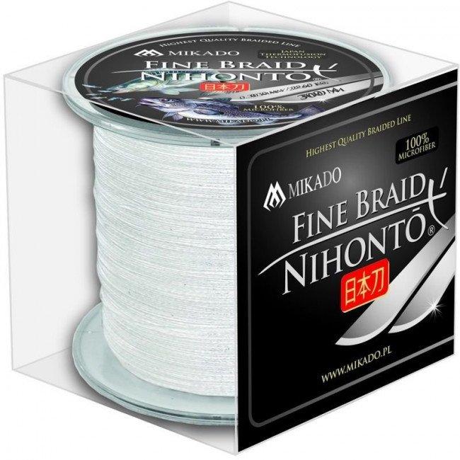 Фото Плетеный шнур Mikado NIHONTO FINE BRAID 300м белый купить в Украине по недорогой цене для рыбалки