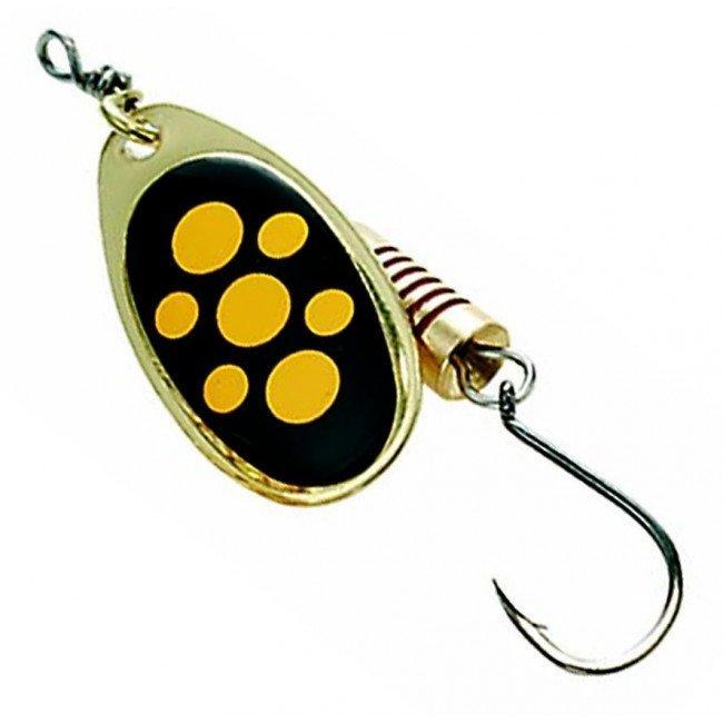 Фото Блесна-вертушка DAM Effzett Standart With Single Hook Black 4 г купить в Украине по недорогой цене для рыбалки