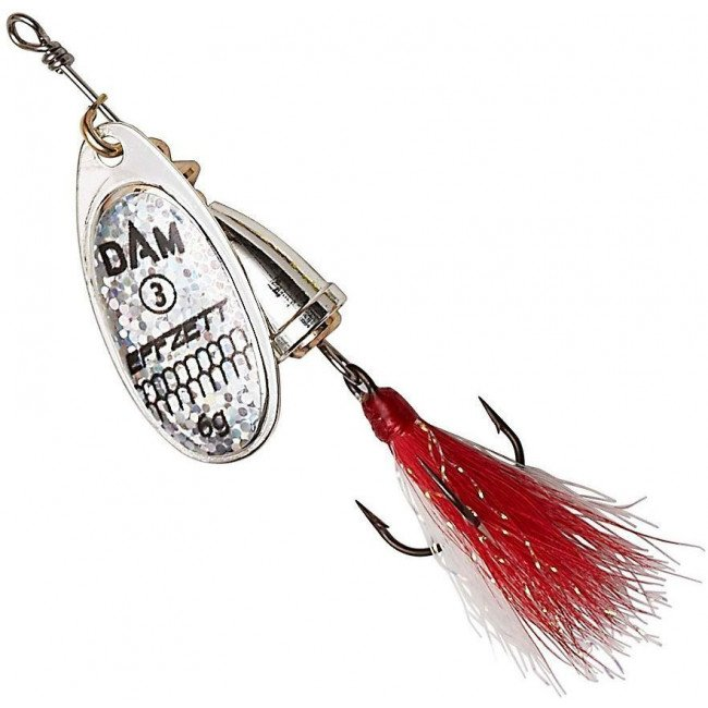 Фото Блесна-вертушка DAM Effzett Executor с бородкой Reflex Silver 3 г купить в Украине по недорогой цене для рыбалки