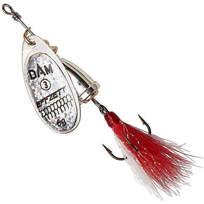 Фото Блесна-вертушка DAM Effzett Executor с бородкой Reflex Silver 4 г купить в Украине по недорогой цене для рыбалки