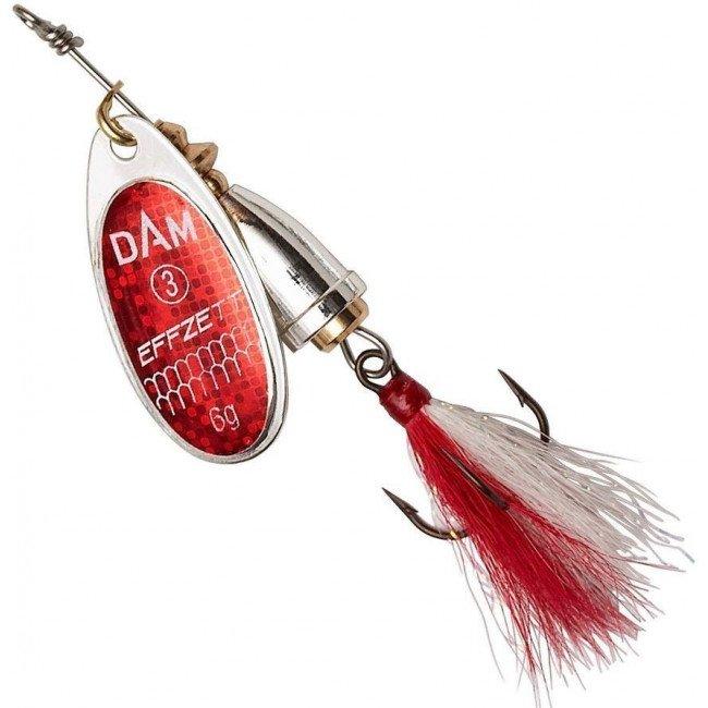 Фото Блесна-вертушка DAM Effzett Executor с бородкой Reflex Red 4 г купить в Украине по недорогой цене для рыбалки