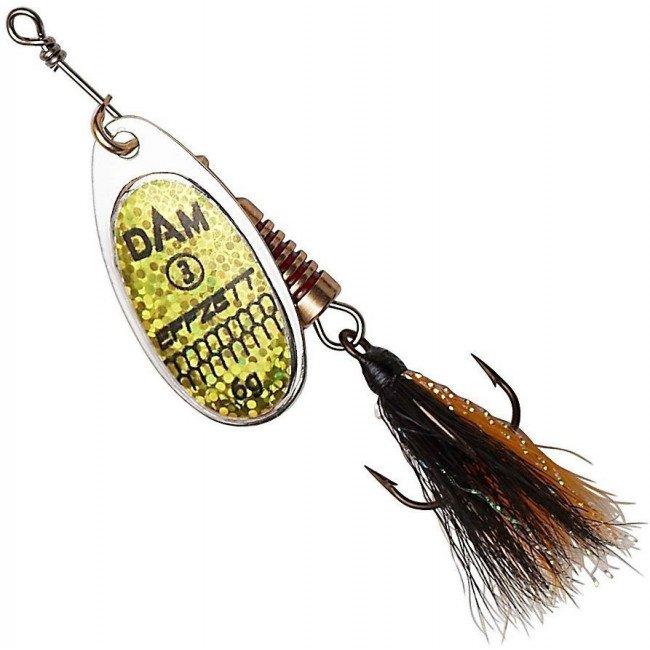 Фото Блесна-вертушка DAM Effzett Standart с бородкой Reflex Gold 10 г купить в Украине по недорогой цене для рыбалки