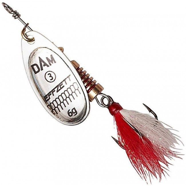 Фото Блесна-вертушка DAM Effzett Standart с бородкой Silver 10 г купить в Украине по недорогой цене для рыбалки