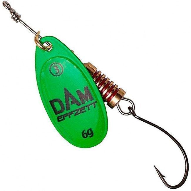 Фото Блесна-вертушка DAM Effzett Natural With Single Hook Green 4 г купить в Украине по недорогой цене для рыбалки