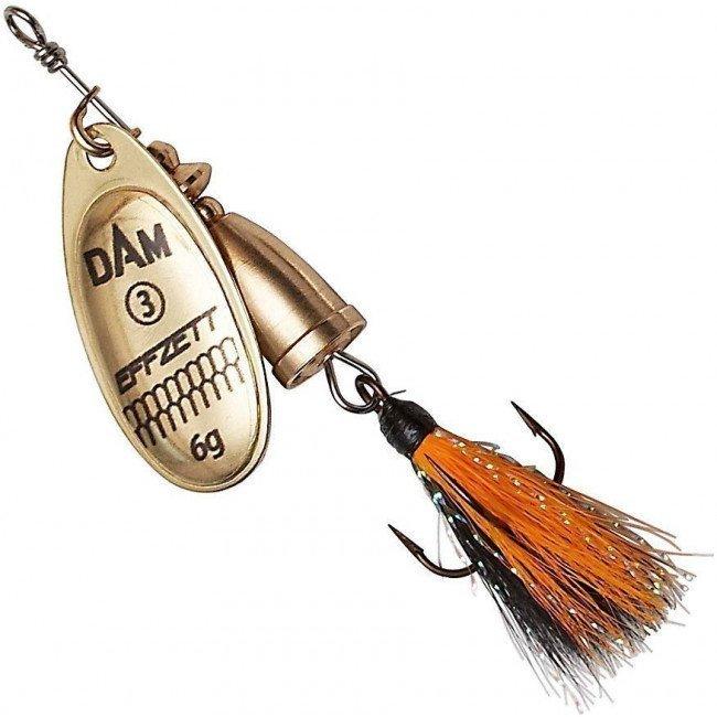 Фото Блесна-вертушка DAM Effzett Executor с бородкой Gold 8 г купить в Украине по недорогой цене для рыбалки