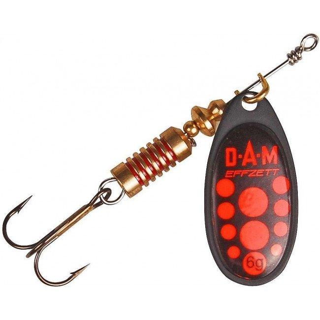 Фото Блесна-вертушка DAM Effzett Standart Black Red 3 г купить в Украине по недорогой цене для рыбалки