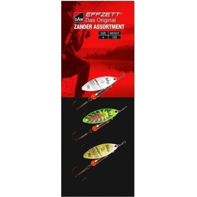 Фото Блесна-вертушка DAM Effzett Original Assortment Zander 10 г купить в Украине по недорогой цене для рыбалки