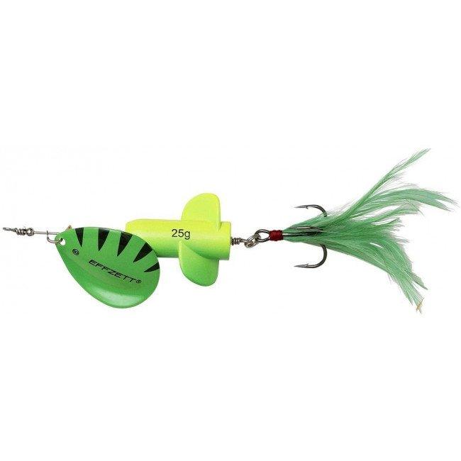 Фото Блесна-вертушка DAM Effzett Rattlin Spinner Yellow/Green 18 г купить в Украине по недорогой цене для рыбалки
