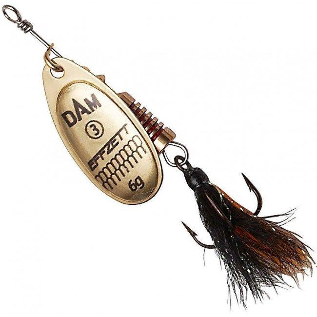 Фото Блесна-вертушка DAM Effzett Standart с бородкой Gold 12 г купить в Украине по недорогой цене для рыбалки