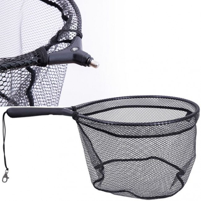 Фото Голова подсака Mikado 60х50см прорезиненная сетка ячейка 6мм купить в Украине по недорогой цене для рыбалки