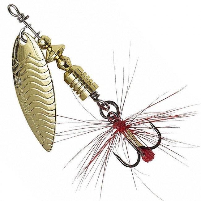 Фото Блесна-вертушка DAM Effzett UV-Spinner с бородкой Gold 4 г купить в Украине по недорогой цене для рыбалки