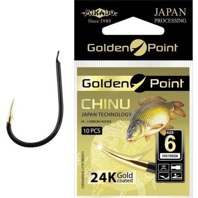Фото Крючки Mikado GOLDEN POINT CHINU купить в Украине по недорогой цене для рыбалки