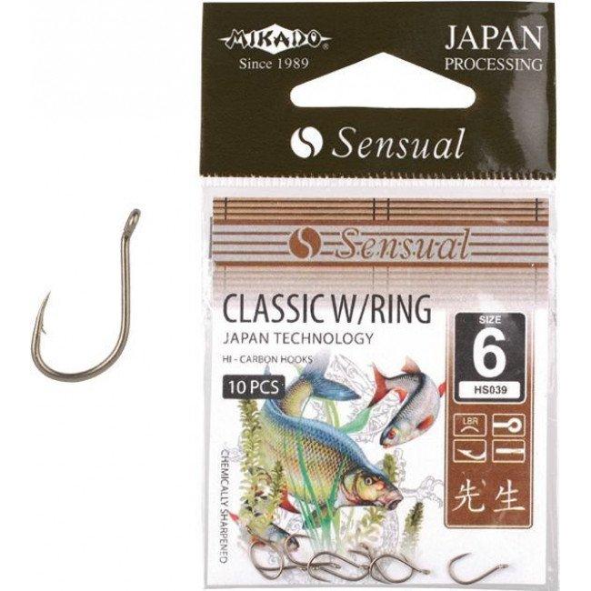 Фото Крючки Mikado SENSUAL CLASSIC W/RING (бронзовый) купить в Украине по недорогой цене для рыбалки