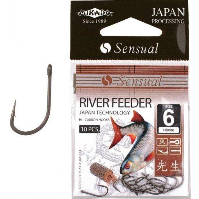 Фото Крючки Mikado Sensual River Feeder (черный никель) купить в Украине по недорогой цене для рыбалки